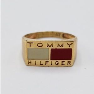 Vintage 90s RARE Tommy Hilfiger Ring Sz 6.5
